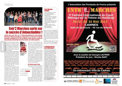 2012-05 - Cannes Soleil 119 - Entr'2 Marches surfe sur le succès d'Intouchables.jpg